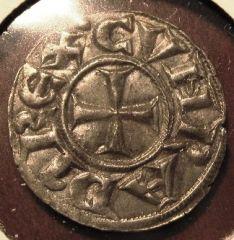 Genoa Silver Denaro  Republic 1139 1339   Obverse=