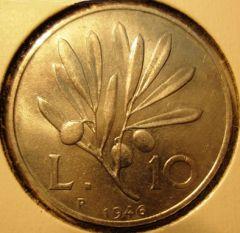 10 Lire 1946 R    Reverse