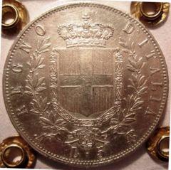 5 Lire 1864 N   Reverse