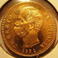 20 Lire 1882 R  Umberto I   Obverse