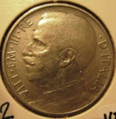 50 Centesimi 1919 Leoni   Bordo Rigato  Obverse