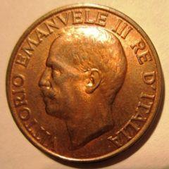 10 Centesimi 1937    Obverse