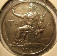 1 lira 1921 Prova  Obverse