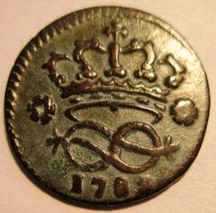 2 Denari 1785  Reverse