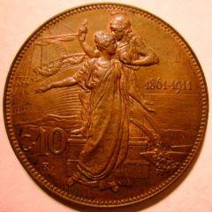 10 Centesimi 1911   Reverse