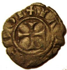 Siena Denaro Piccolo 1316 1317           2 Stellette  Reverse