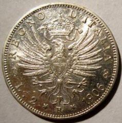 2 Lire 1906 Aquila Sabauda      Reverse