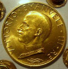 100 Lire 1932  X EF Italia Su Prora    Obverse