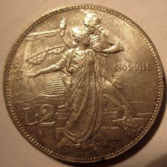 2 Lire 1911    Reverse