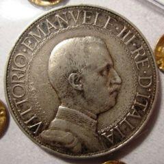 2 Lire 1911 R  Quadriga Veloce   Obverse
