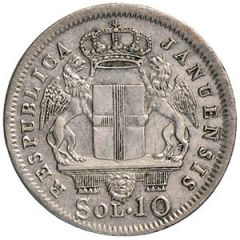 REPUBBLICA GENOVESE 1814 10 SOLDI
