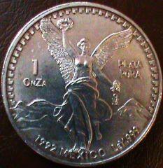 1 onza plata pura 1992