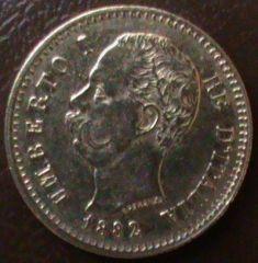 20 lire Umberto I 1882