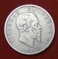 5 Lire 1873 Milano