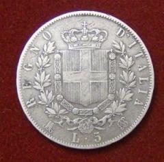 Scudo Vittorio Emanuele II 6 Fert