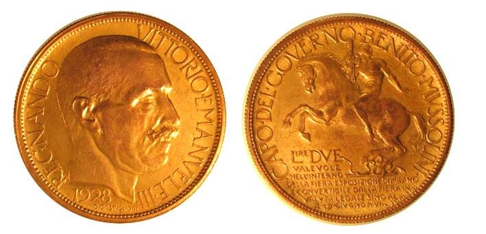 2 lire 1928