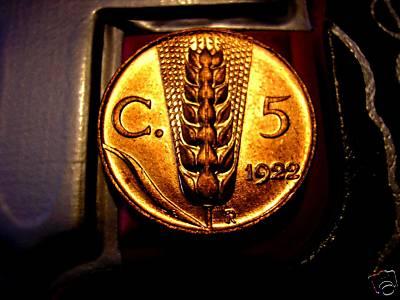 5 cent. 1922 FDCr