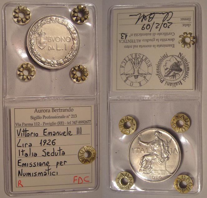 1 Lira 1926 (x numismatici)