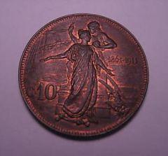10 cent. 1911 FDCr