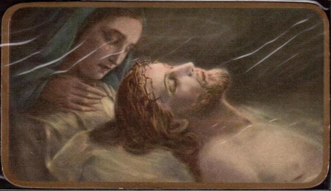 42 Ultimo saluto di Maria prima della chiusura del Sepolcro
