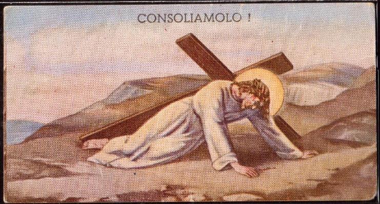 33 Gesù cade ancora sotto il peso della Croce