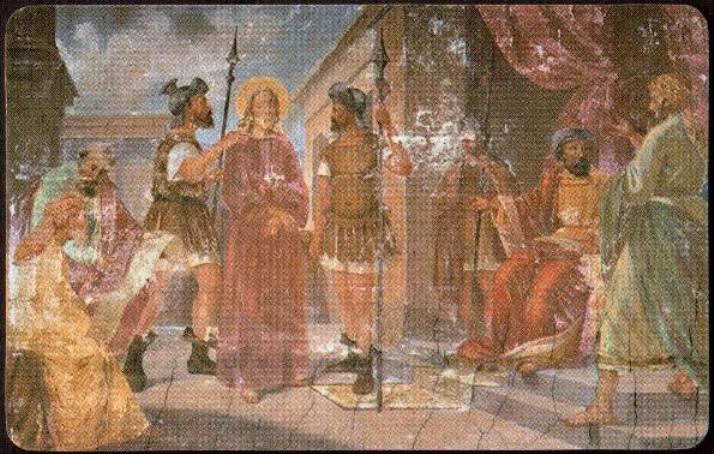 25  Gesù viene portato davanti a Pilato