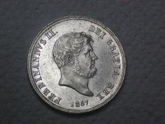 Ferdinado II 1857 dritto d aperta