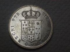Ferdinado II 1857 rovescio d e v aperte