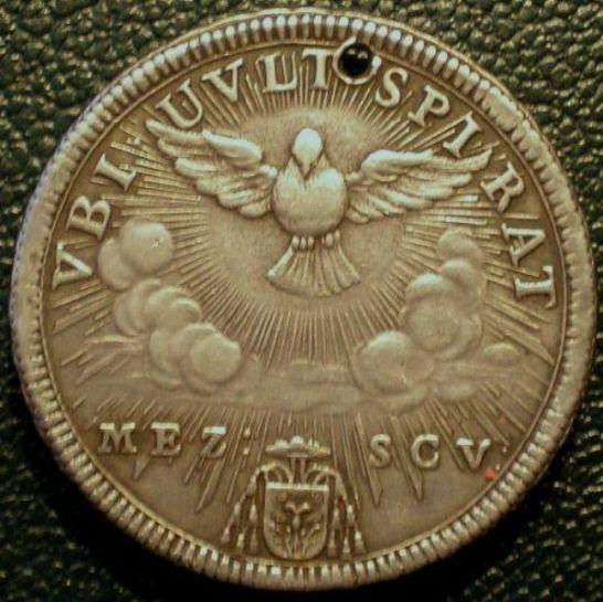R: mezzo scudo 1758 Sede Vacante
