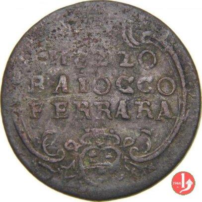 V:  MEZZO BAIOCCO FERRARA   BENEDETTO XIV (1740 - 1758 )