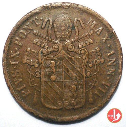D: 5 BAIOCCHI 1853 ANN.VII B  PIO IX ( 1846 - 1878 )