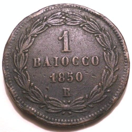 V: BAIOCCO 1850 A.IV B PIO IX (1846 - 1878 )