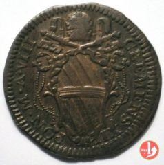 D.: Mezzo baiocco 1738  CLEMENS XII (1730 - 1740)