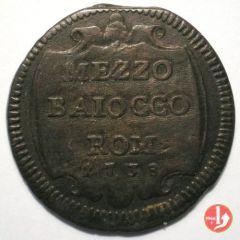 R.: Mezzo baiocco 1738 CLEMENS XII (1730-1740)