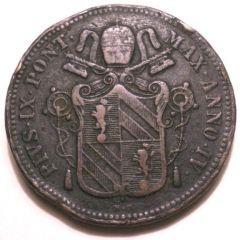 D: BAIOCCO 1850 A.IV B PIO IX (1846 - 1878 )