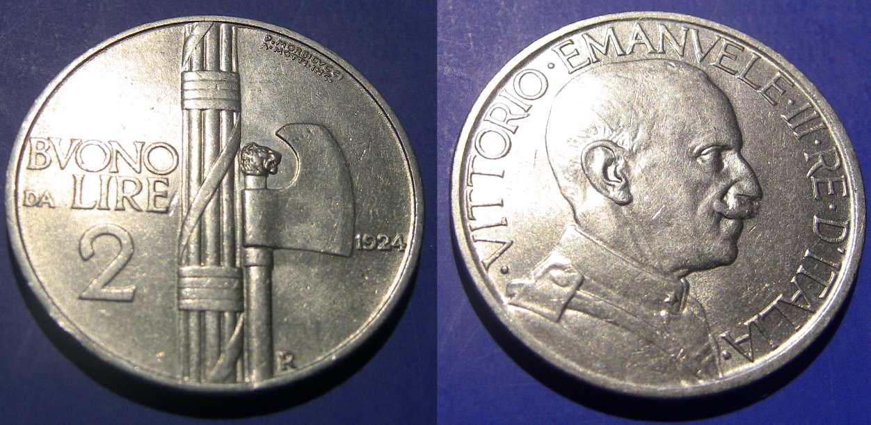 2 Lire Buono 1924 SPL