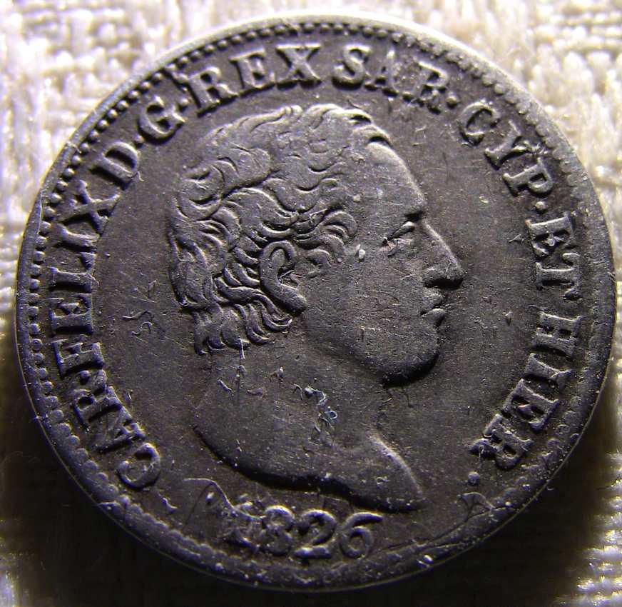 50 Centesimi 1826 Torino Verso