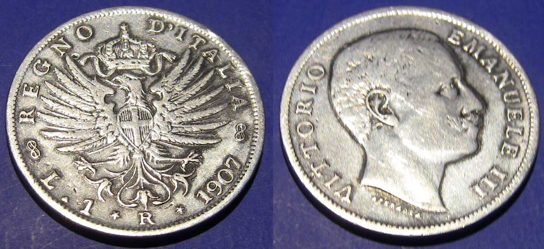 1 Lira Acquila Sabauda 1907 I