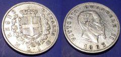 1 Lira VE II Stemma 1863 M (2)