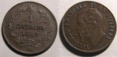1 Centesimo 1867 M VE II