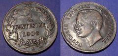 2 Centesimi Valore 1906 QBB