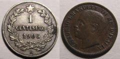 1 Centesimo Valore 1905