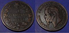 5 Centesimi Vittorio Emanuele II 1867 N MB BB