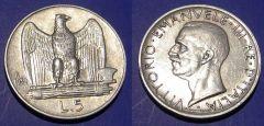 5 Lire 1930 Acquila 1 stella