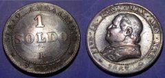 1 Soldo 1867 Stato Pontificio QBB
