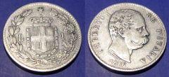 1 Lira Umberto I 1886  QBB