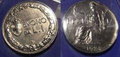 1 Lira Buono 1924 SPL