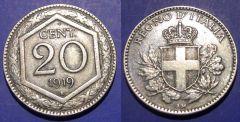 20 Centesimi 1919 BB