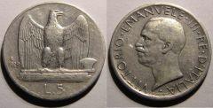5 Lire aquila 1929 Una stella