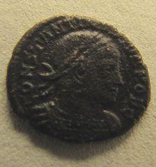 Costantino II - Gloria Exercitus - diritto